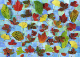 LEAVES ON A GRID, 2005