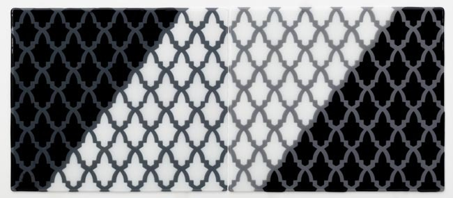 GREY GRID WITH BLACK AND WHITE