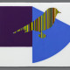 STRIPED BIRD IN ELLSWORTH PURPLE SQUARE AND BLUE WEDGE
