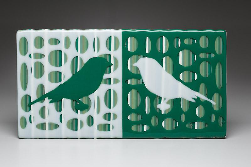 Green & White Bird