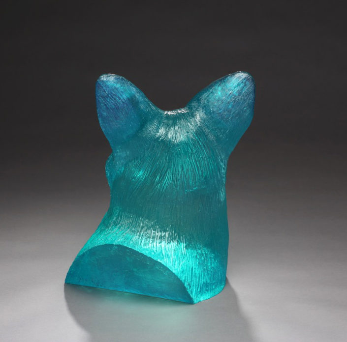 Coyote Bust: Cobalt Turquoise - Back View