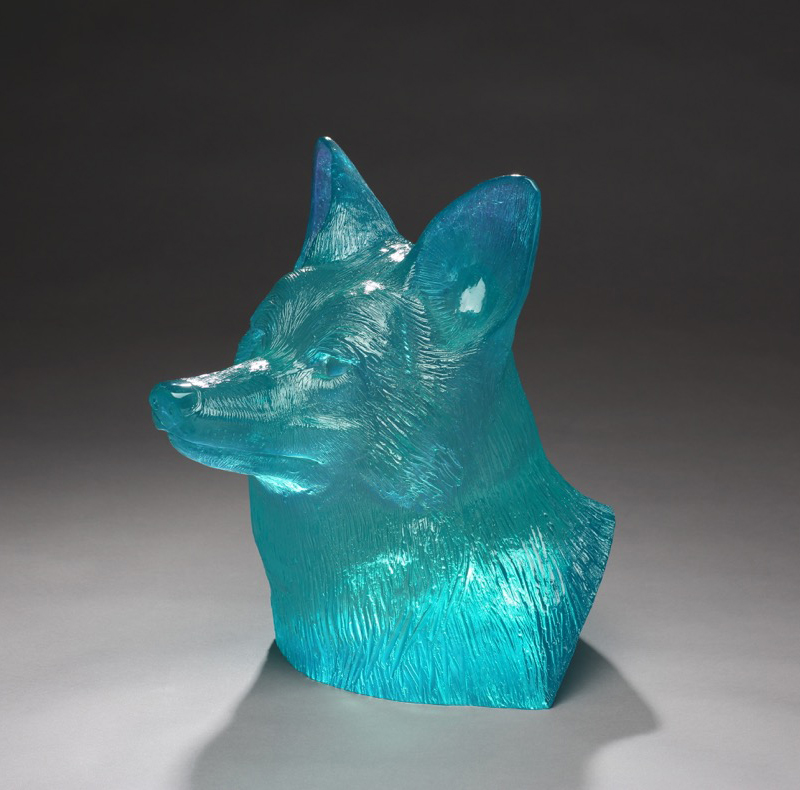 Coyote Bust Cobalt Turquoise