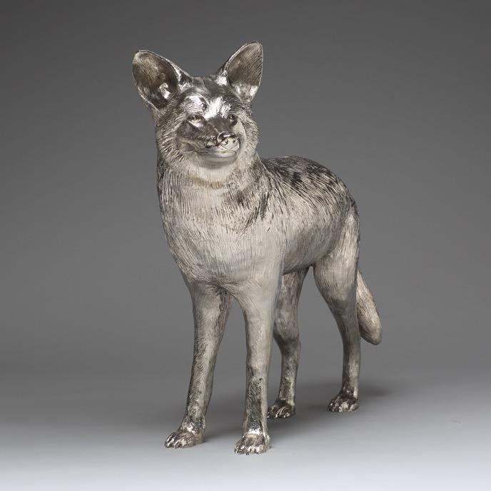 Pasadena Coyote Nickel Plated Bronze
